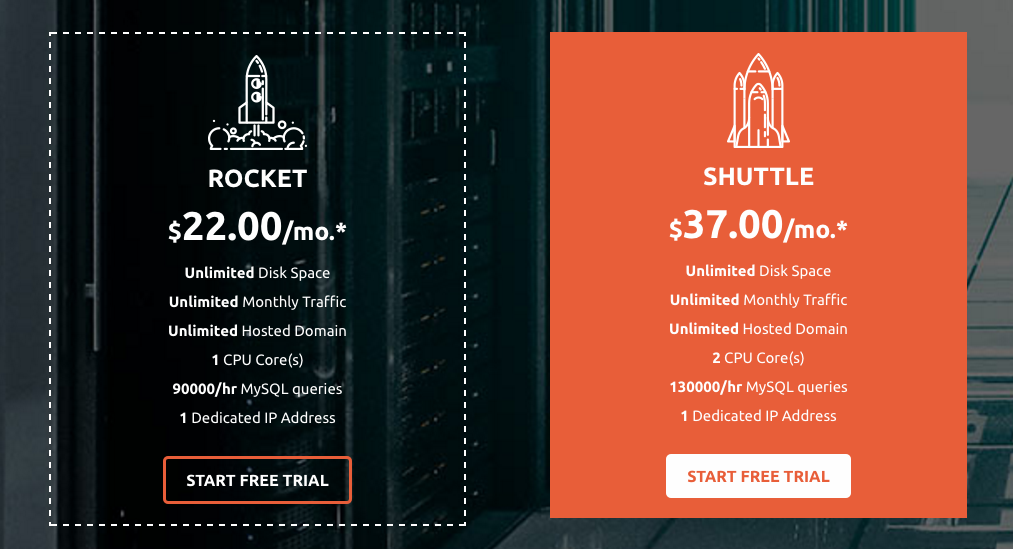 Exclusive Hosting - semi-dedicated servers